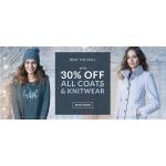 Wallis: up to 30% off coats & knitwear
