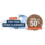 Warehouse Aquatics: Sale 50% off fish food