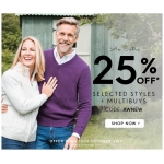 Woolovers: 25% off selected womens and mens fashion