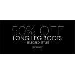 Jones Boot Maker: 50% off long leg boots