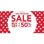 Claire's: Buy 1 get 1 50% off