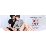 Lilysilk: up to 30% off silk nightwear