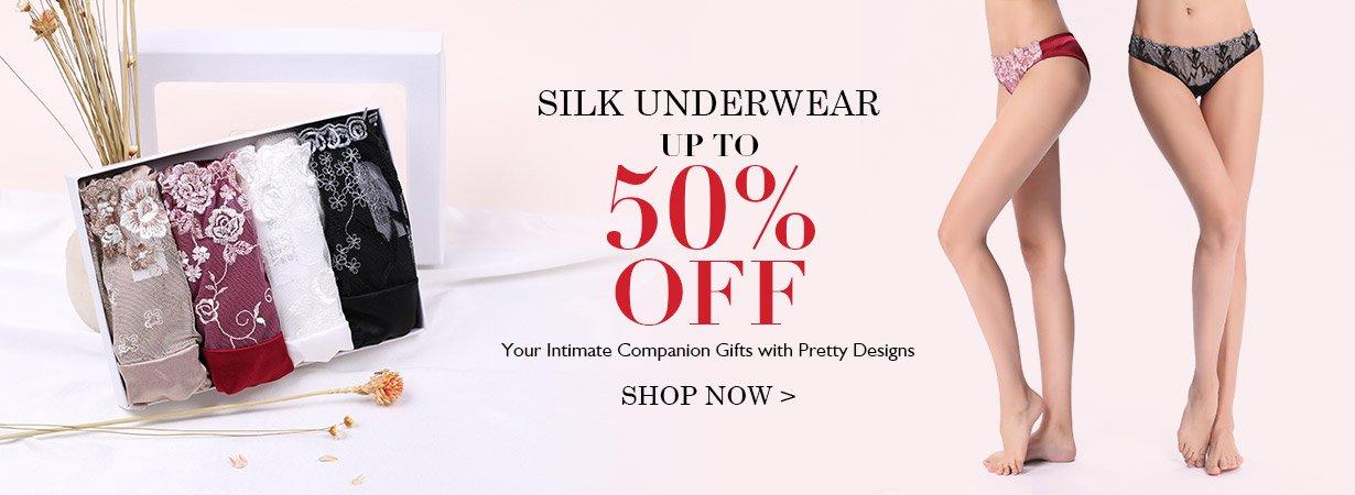 Lilysilk: up to 50% off silk underwear